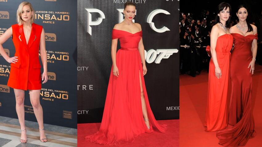robe rouge les plus beaux looks de