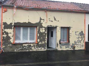 rénovation de façade enduit décoratif pierre imitation pierre pierre de parement