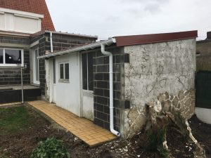 Rénovation de façade Enduit imitation Pierre type Provençal