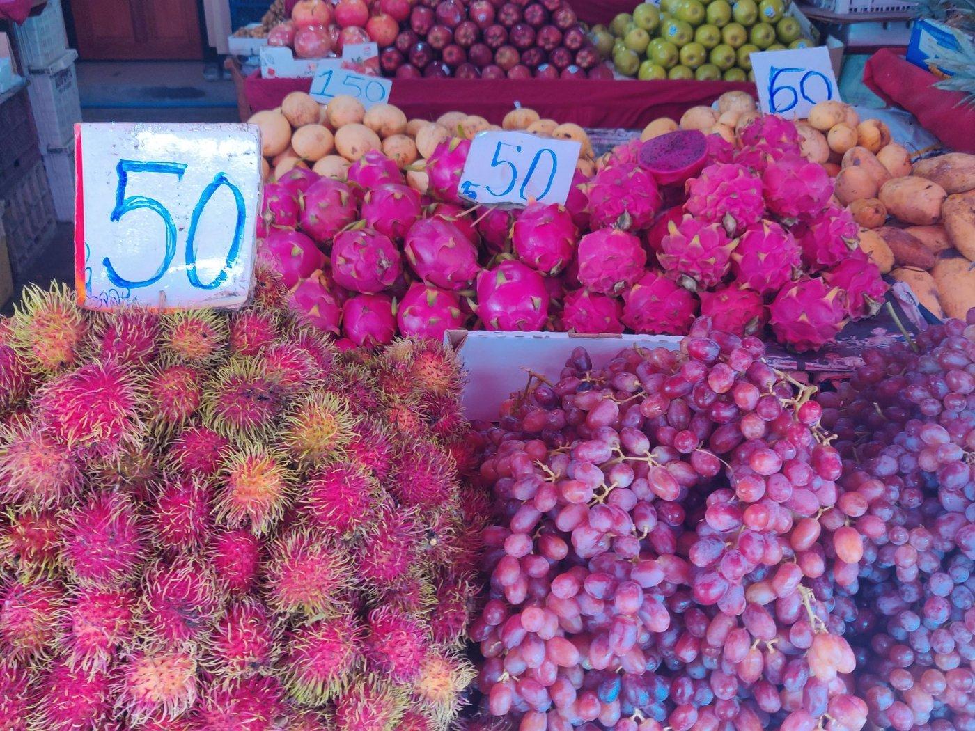 frutta in asia, e' sicura la frutta in asia, frutta nel sud est asiatico, mercati nel sud est asiatico