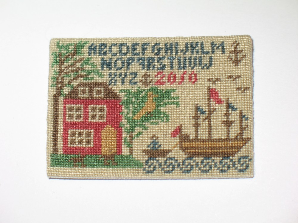 How to Frame a Miniature Needlework Sampler Picture (3/6)