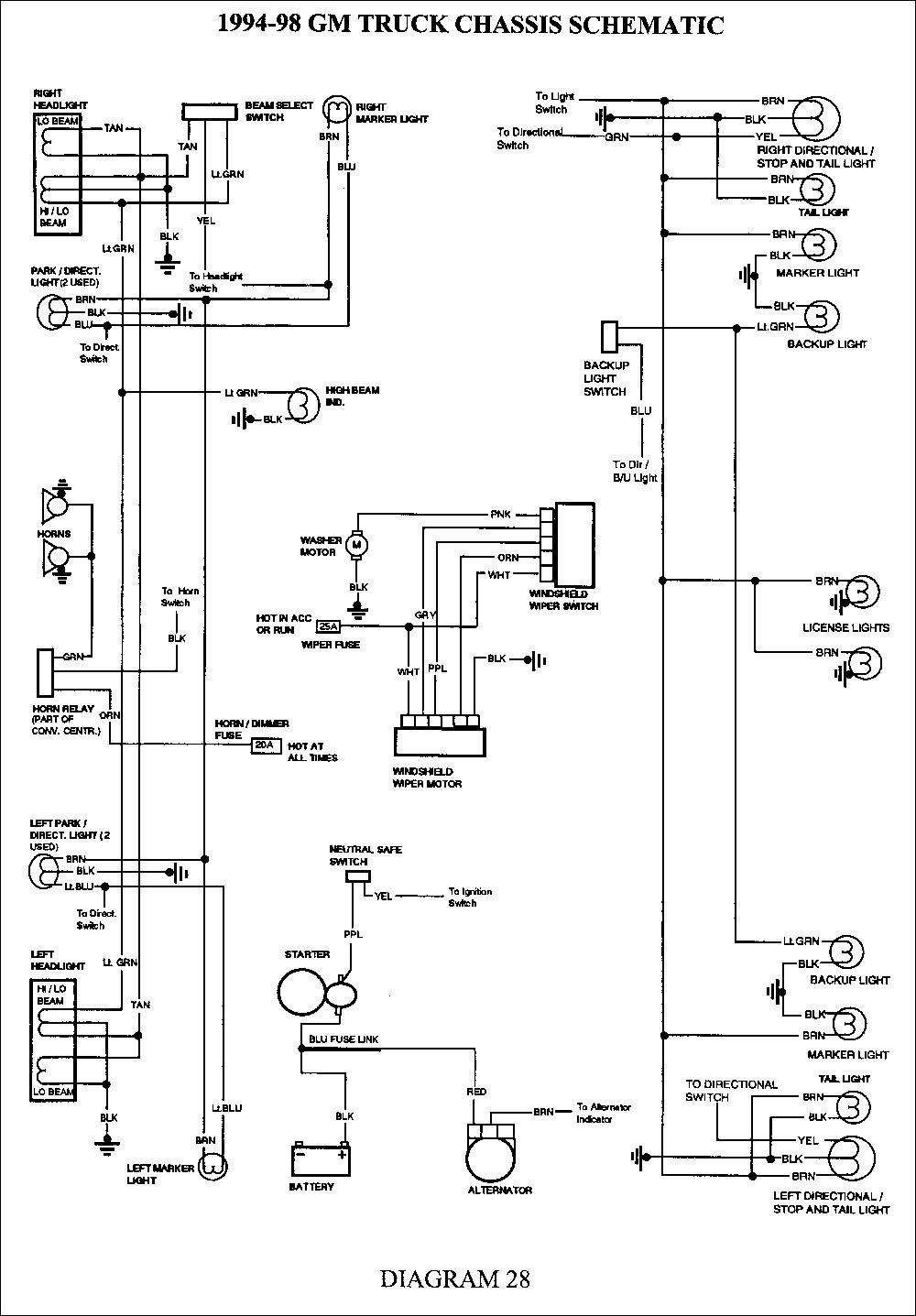 gm truck 7 pin wiring diagram wiring schematic diagram2001 blazer trailer  wiring in gm wiring diagram