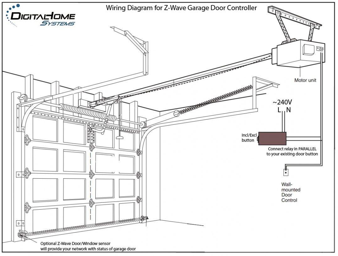 Garage Door Opener Safety Sensor Wiring