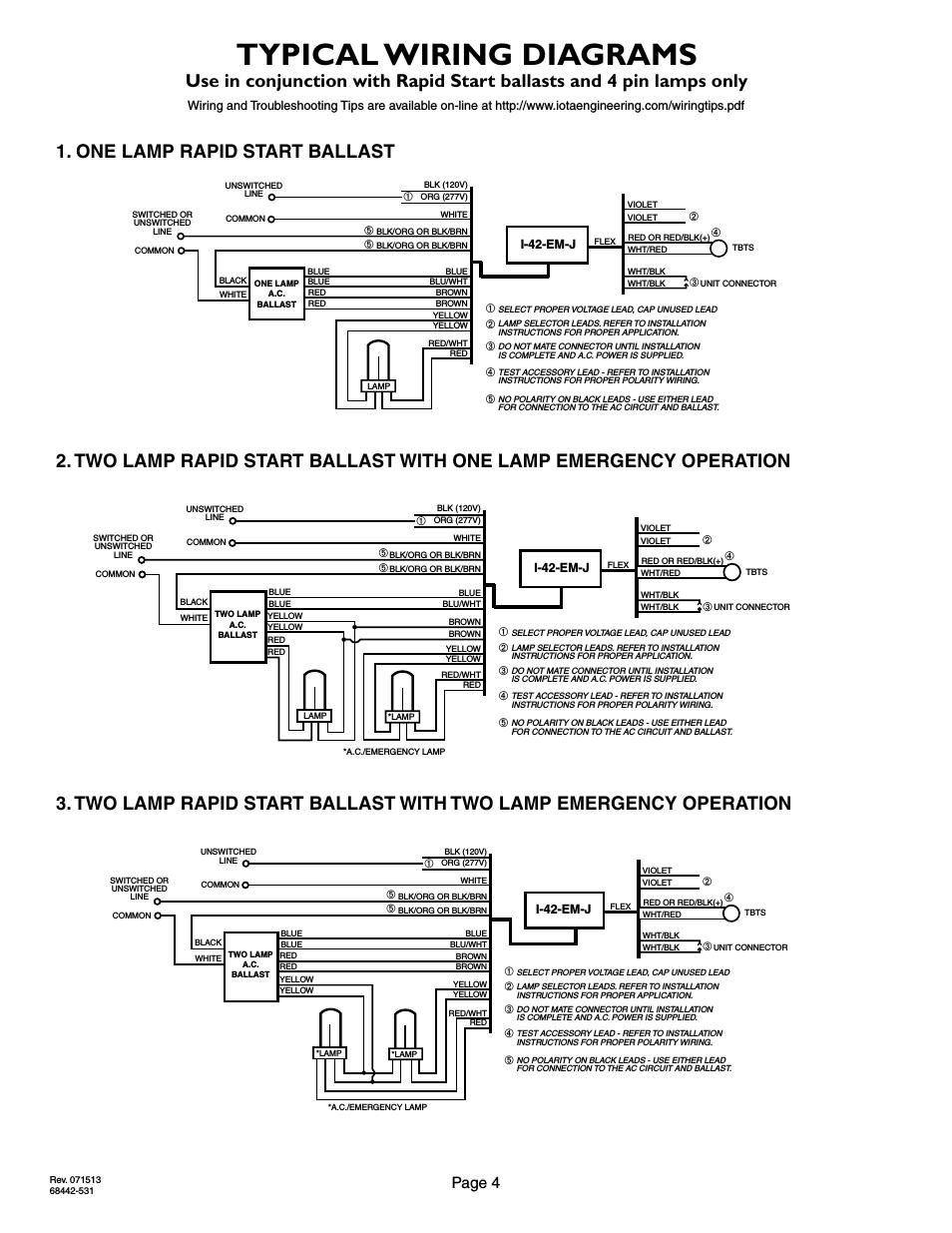 Iota Emergency Ballast Wiring Diagram Online Wiring Diagram