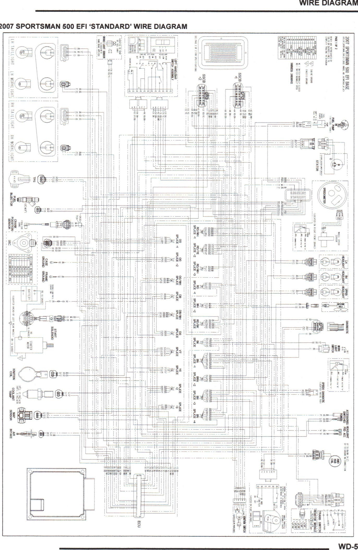 2001 Polari Sportsman 90 Wiring Diagram