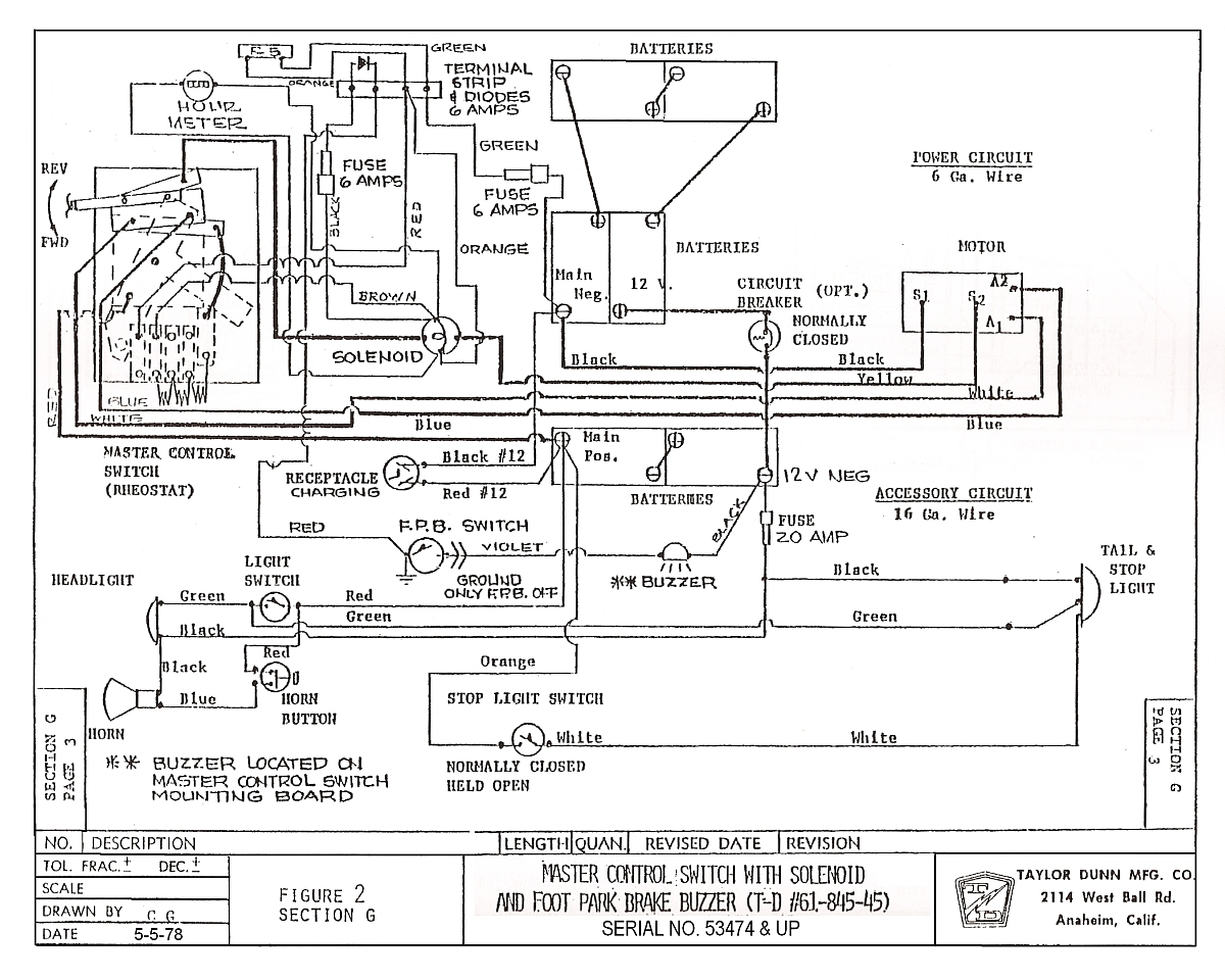 Taylor Dunn Wiring Diagram