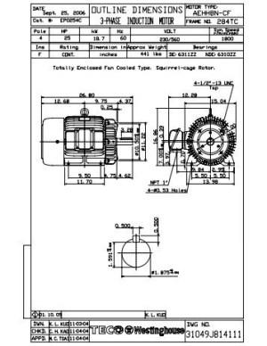 Westinghouse Electric Motors Wiring Diagram  impremedia