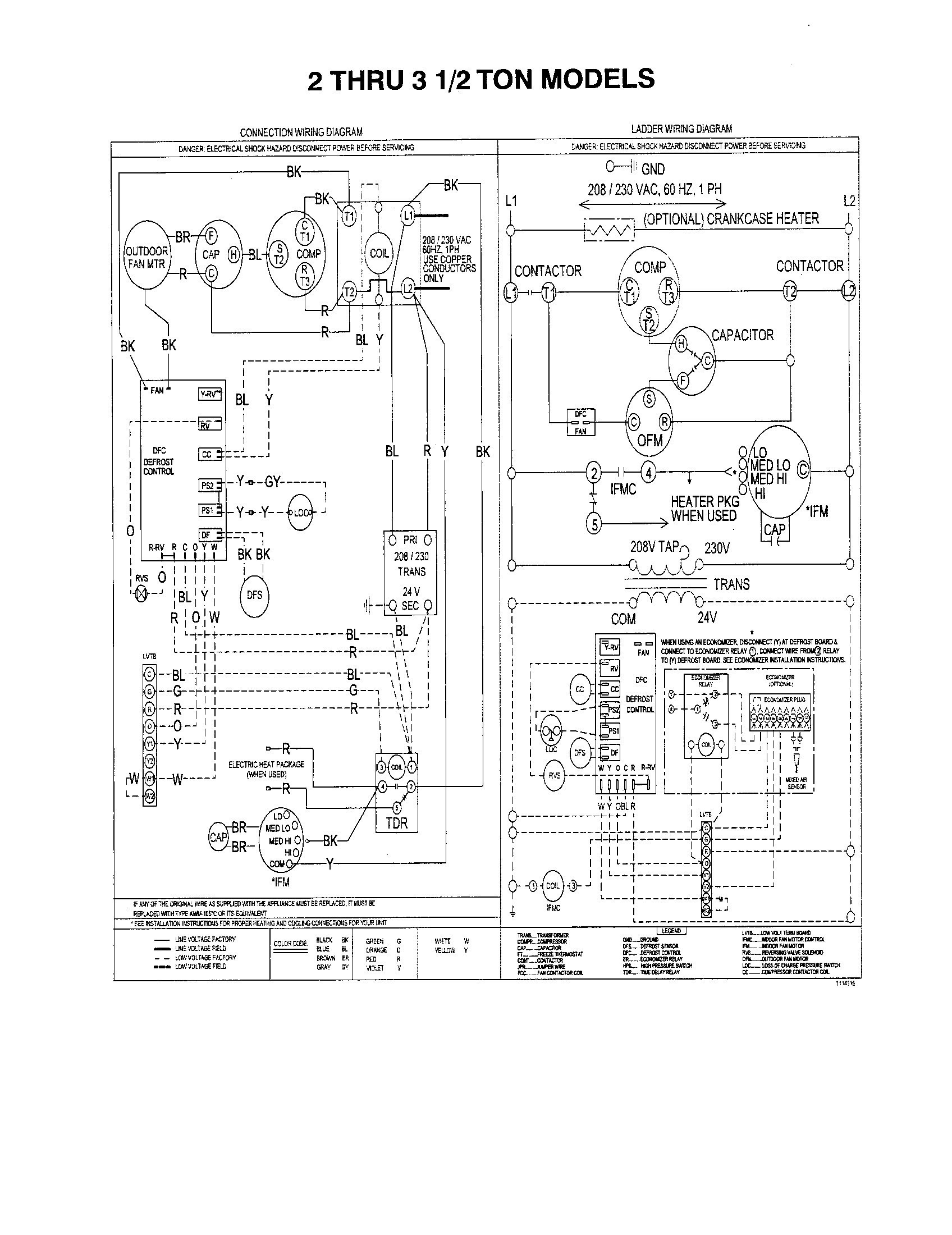 York Ac Unit Wiring Diagram | Wiring Diagram A C Unit Wiring Diagram on