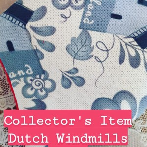 Dutch Windmills Face Mask Collectors Item