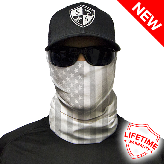 Whiteout American Flag Face Shield – Face Mask