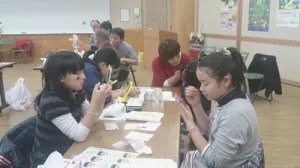 有資格者活動報告◆生涯学習フォーラム'13~子育てを語る会~【フェイス&ボディペインティング】イベント の画像