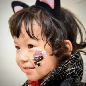 フェイスペインティングデザイン「黒猫」の画像