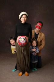 だるまさんののマタニティペイント 家族写真