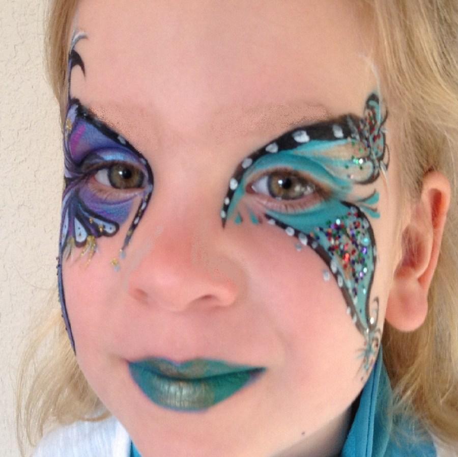 Flower Butterfly Eye Design