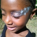 Silver Snow Flakes Eye Design