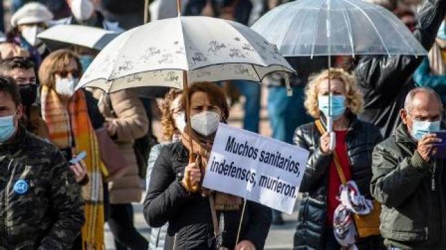 الآلاف يتظاهرون في مدريد ضد إجراءات احتواء كورونا