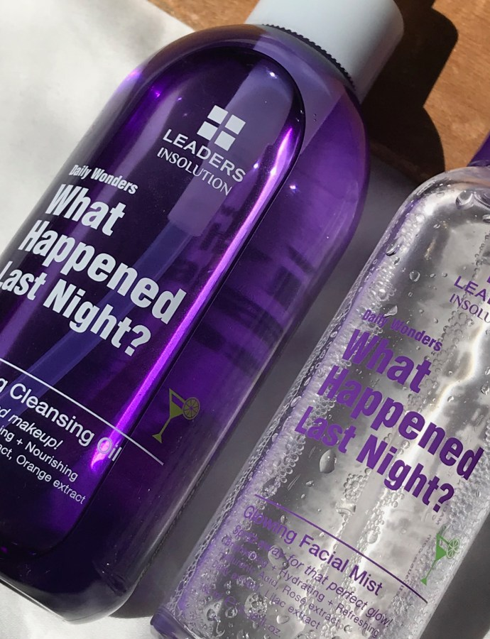 [REVIEW] LEADERS What Happened Last Night & Glowing Facial Mist
