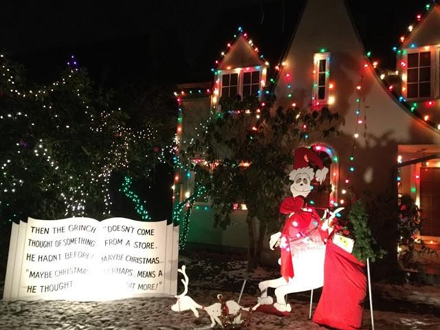 Grinch Christmas Light Display