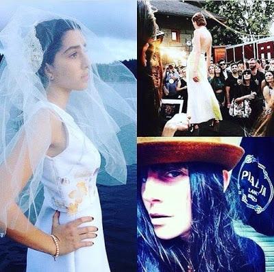 Model in wedding dress