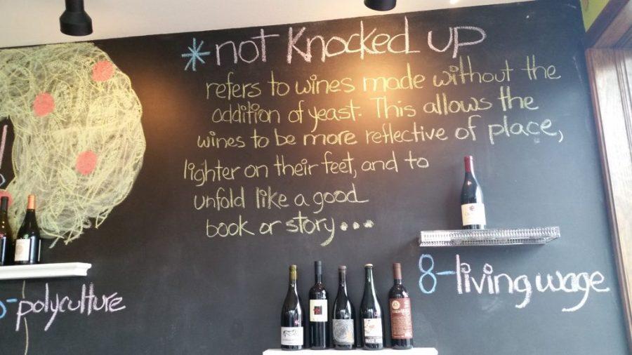 Chalk Board at Pairings Portland Wine Shop