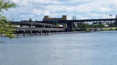 Floating walkway dock on Portland east side waterfront