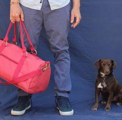 Meridian Lee Duffel Bag and Dog