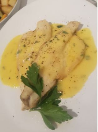 Fish in fennel sauce