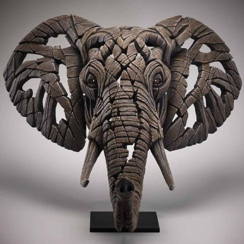 Bring a touch of Africa to your living room with this amazing bust of an African Elephant by Matt Buckley