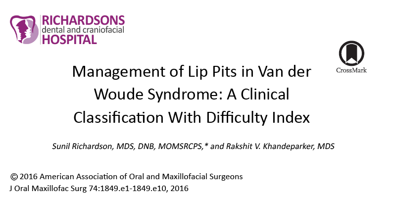 Management of Lip Pits in Van der