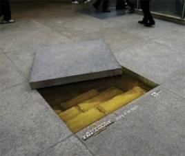 trap door, guerrilla marketing, trippy art, weird, marketing advice