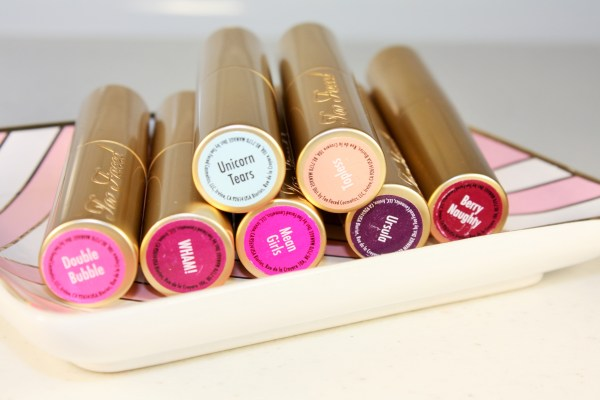 Too Faced La Crème Color Drenched Lipstick Review (New Spring 2016 Shades)