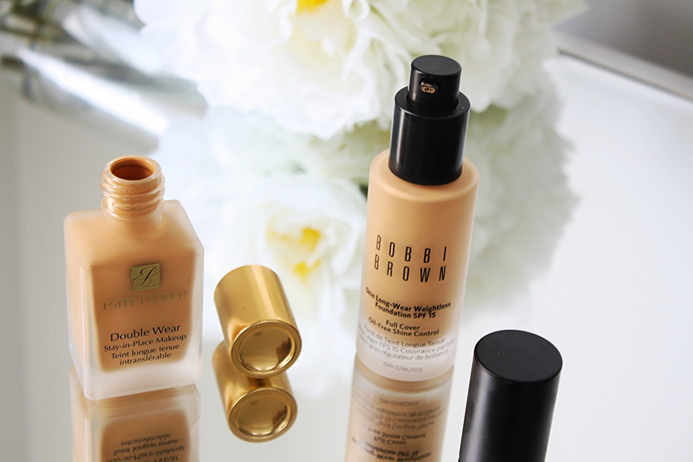 FOUNDATION TESTING WITH ESTÉE LAUDER AND BOBBI BROWN