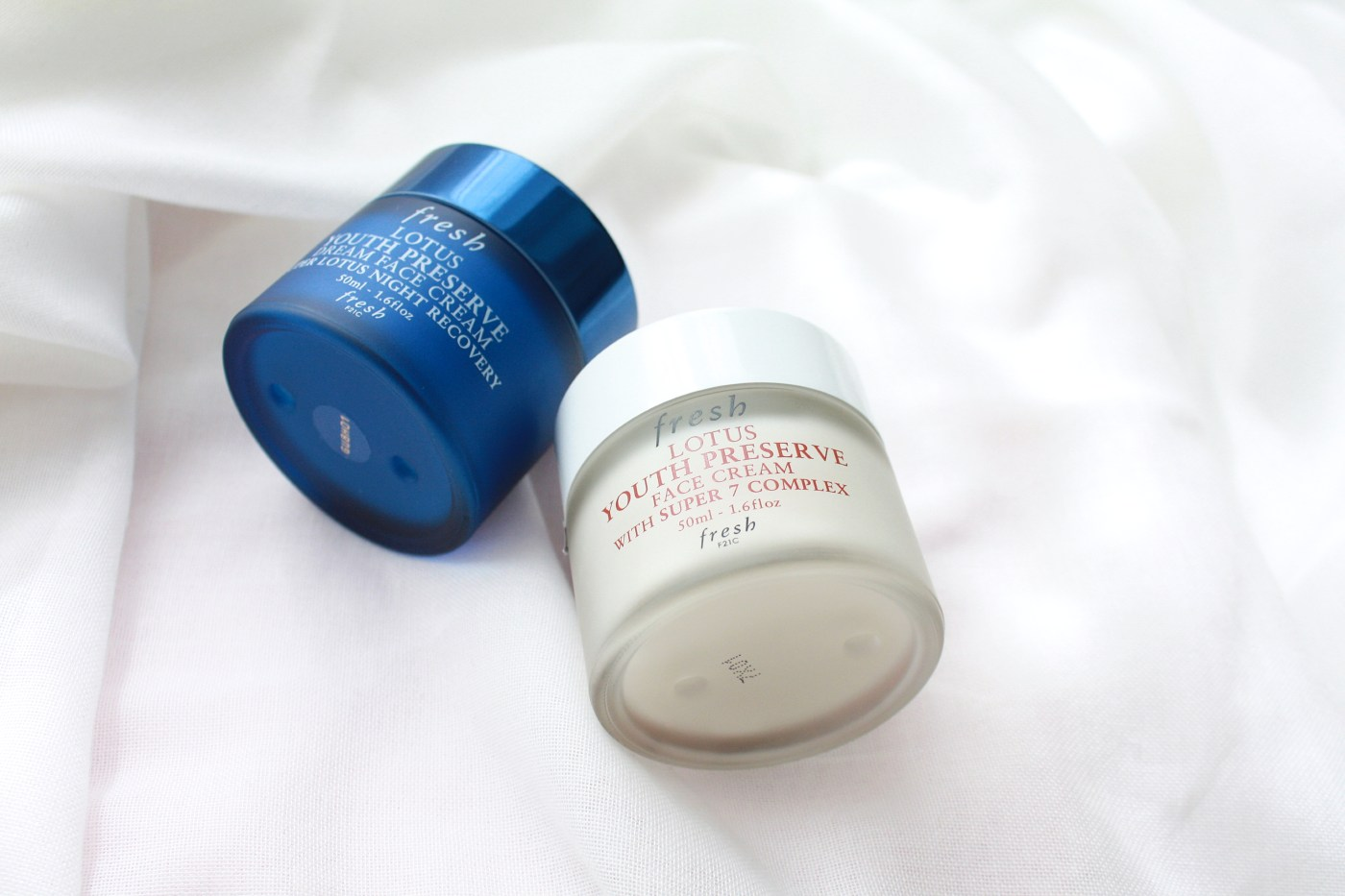 FRESH BEAUTY LOTUS YOUTH PRESERVE FACE CREAM AND DREAM NIGHT CREAM