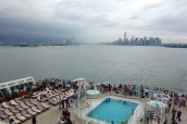 Leaving New York Harbor. Friday, June 13, 2014