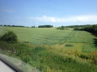 on the train from London