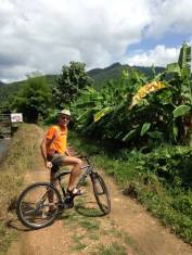 Cycling around the paddies.