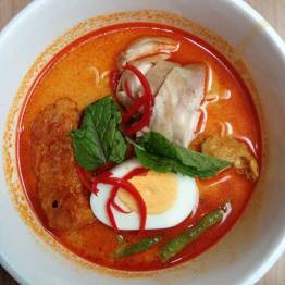 Curry Laksa - spicy and good. Burns ya on the way in and on the way out.