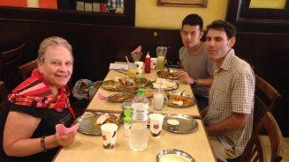 Veggie Indian luncheon in Penang with Dianna and her son Jake from Pai.