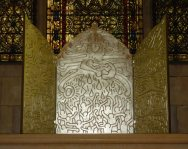 Keith Haring altar at St. John the Divine