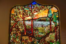 Stained glass at Brooklyn Museum. W. Cole Brigham is the artist. Did you know Tiffany's middle name was Comfort?