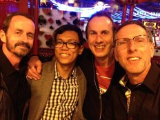John, Izuan, Stephen, Me in London