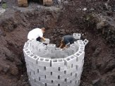 Retaining ring is built for cesspool.