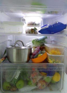 Farewell impossibly tiny fridge.