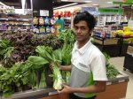 Goodbye to Mohammed, the little produce guy at Cold Storage. Thanks for the smiles every day except the day I tried to get your photo. You work 6 days a week, 12 hours a day for $250 a month (and no benefits) to send home to your mother in Bangladesh. No wonder you're not smiling.
