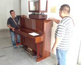Bye to the piano...it goes on consignment back to the store where I bought it.