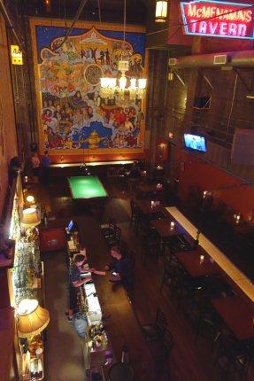 McMenniman's Back Stage bar.