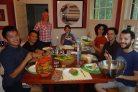 Dinner party at Casa Mariposa.