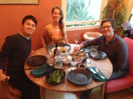 at Kristel and Lawrence's for dinner