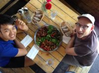 Ethiopian food with Richard in Oakland