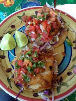 fish tacos at Picante in San Rafael.